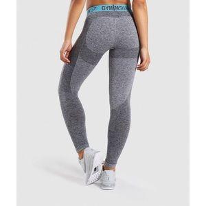 NWOT Gymshark Flex Leggings Large Blue Teal Gray